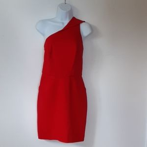 GUC Cynthia Steffe cocktail chili pepper red dress